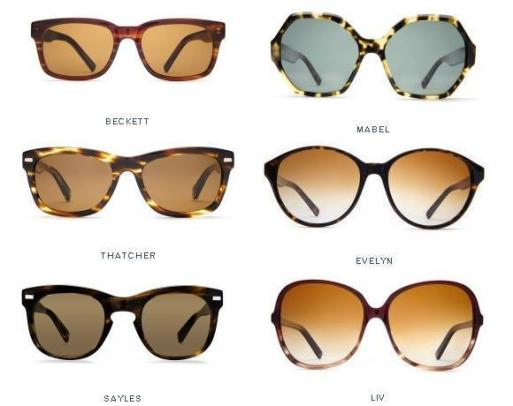 Different Glasses Frame Types : Sunnies